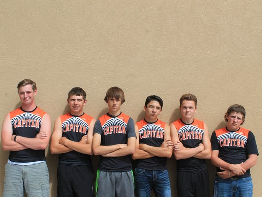Capitan High School's boys cross country team.
