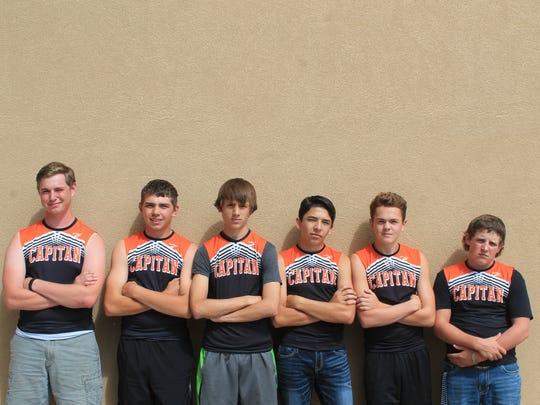 Capitan High School's boys cross country team.