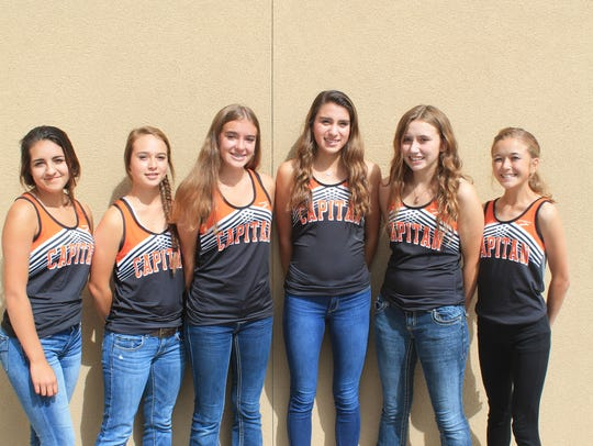 Capitan High School's girls cross country team.