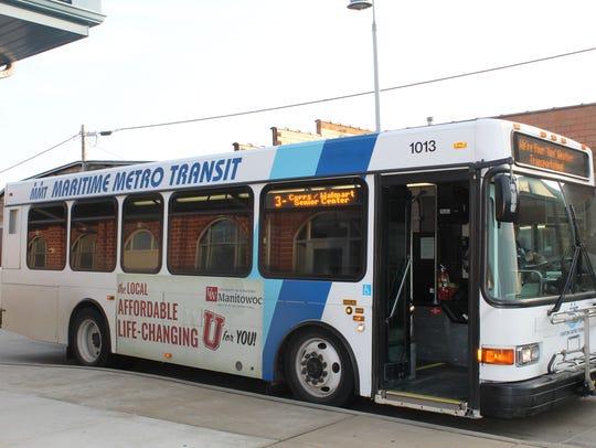 Maritime Metro Transit bus in Manitowoc.