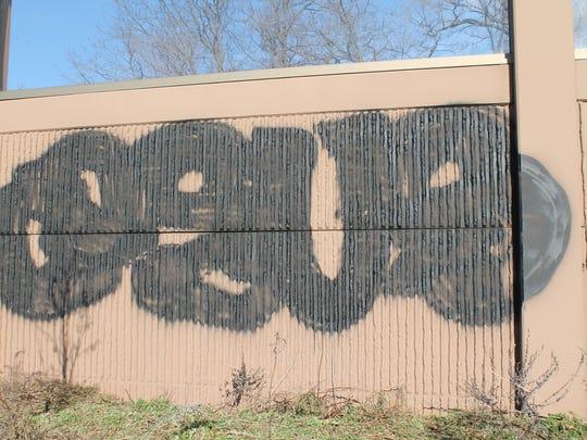 Graffiti found along Route 3.