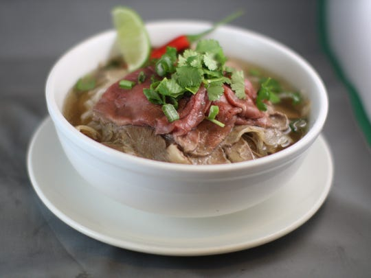 Beef pho from Phorage on the Hudson, opening in February