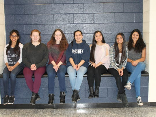 Left to right: Commended Students in the 2017 National