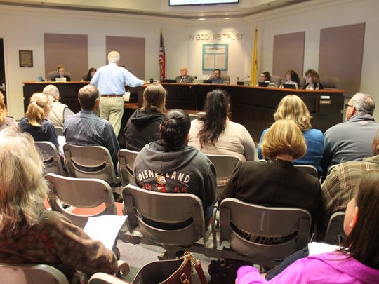 TerranearPMC C.E.O. Kenneth T. Fillman presented at Tuesday's Jan. 31 City Commission meeting regarding the borehole project proposed by the U.S. Department of Energy.