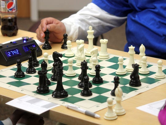 During Saturday's tournament at Gerald Champion Regional Medical Center, 12 people played against each another in three rounds.