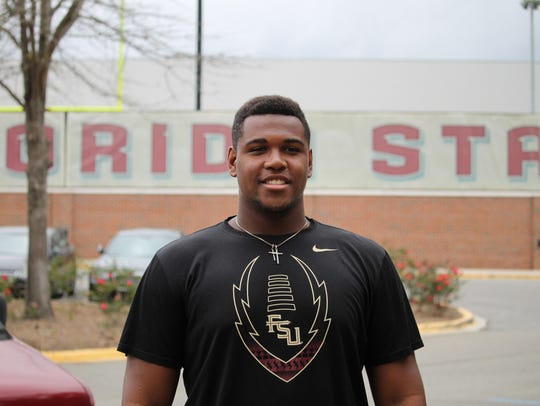 Four-star offensive guard William Barnes has become a top priority for FSU.