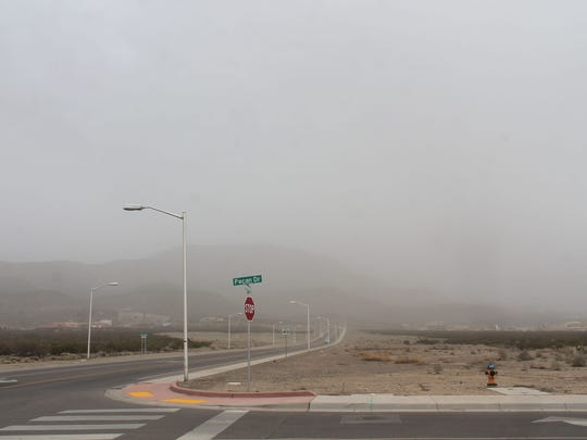 Wind and dust blow through Alamogordo on Tuesday. Peak wind gusts hit 51 mph at 2:37 p.m. in the Tularosa Basin.