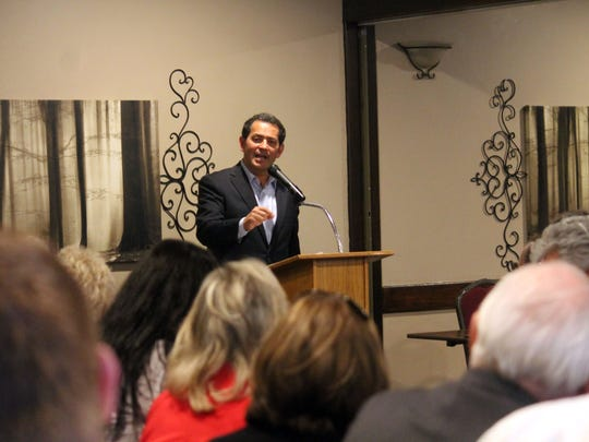 Sanchez spoke to a packed house during the Republicans of Otero County's meeting on Thursday evening.