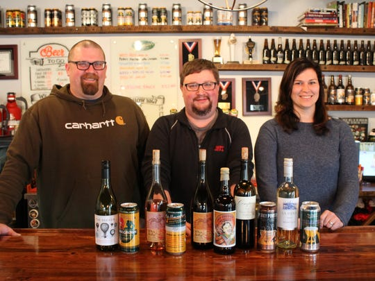 From left, Brad Stillmank, Ben Raupp and Jaclyn Stuart are joining forces to combine beer and wine for ultimate food pairings.