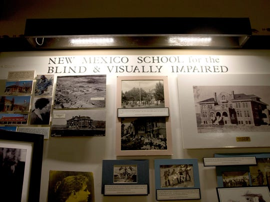 The exhibit that will run through the summer features the history of the New Mexico School for the Blind and Visually Impaired and highlights their commemorative impact on the community.