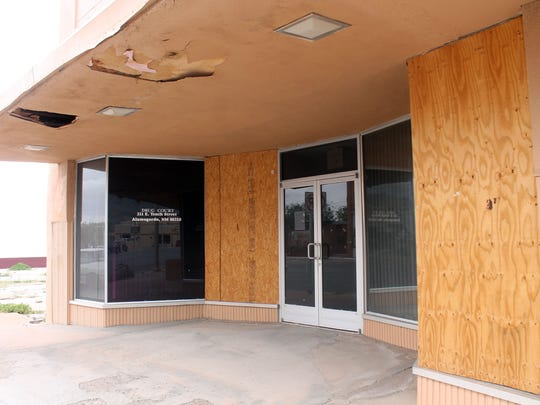 One of the buildings attached to Mission Billiards and visible from White Sands Boulevard stands vacant. Alamogordo MainStreet Executive Director Cam Wilde said they will be working with the building owners and business owners and doing work classified as curb appeal.