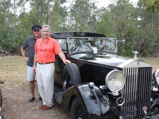 Glenn Enriquez and Steve Roshan with Steve's 1939 Rolls-Royce Wraith Town Car that was awarded Best of Show and the Lady's Choice Award.