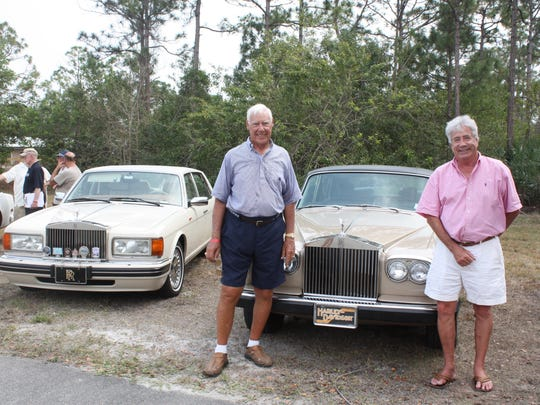 Dick Thomas and Chad Taylor in front of a 1980 Rolls-Royce Silver Wraith