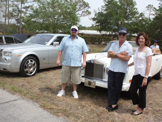 Chip Vance, Gregory Marshall and board member Barbara Alesi with Gregory's 1994 Rolls- Royce Corniche IV convertible