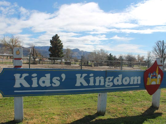 In this file photo, the remnants of Kids' Kingdom are displayed before they were removed by the City of Alamogordo. Kids' Kingdom, a park was built by residents in 1995, burned to the ground Sept. 23, 2016. Authorities determined the fire was human-caused but did not determine if the fire was accidental or arson.