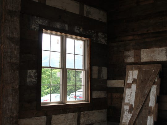Wood used inside Door County Brewing's new taproom
