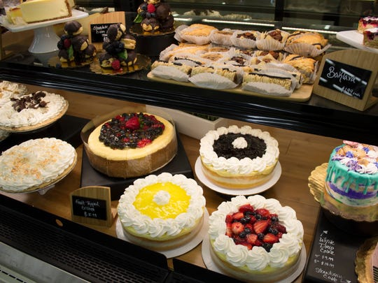 The bakery at Ruby's Market has a large variety of sweets and pastries.
