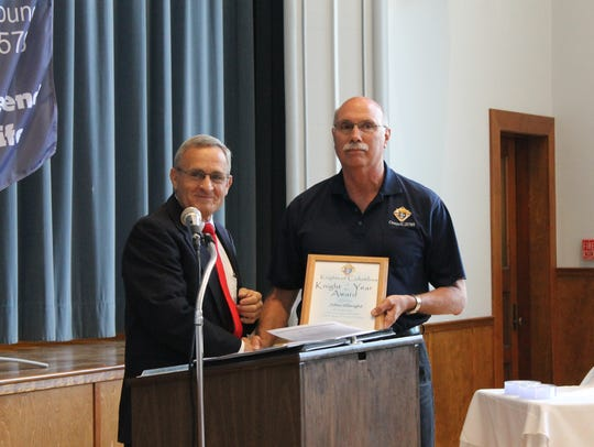 John Albright was presented the Knight of the Year