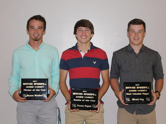 Award winners from the J.V. Braves: Mason Welden, JV