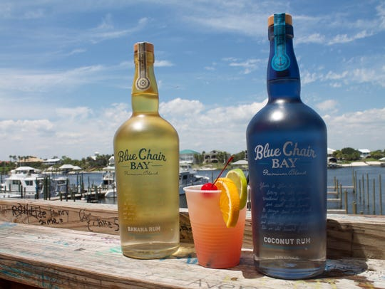 Cocktails made with Kenny Chesney's Blue Chair Bay