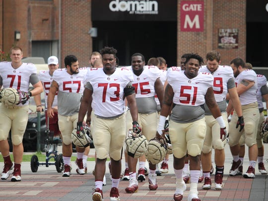 The FSU offensive line