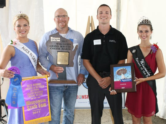 Team Lake Country Dairy, from Schuman Cheese in Turtle Lake, was named the 2017 Grand Master Cheesemaker during the Blue Ribbon Cheese & Butter Auction, held August 10 at Wisconsin State Fair Park.