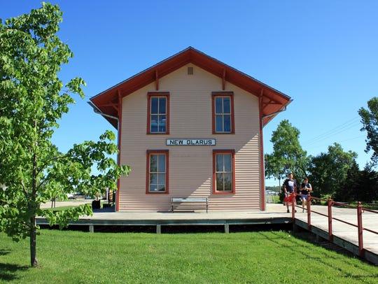 A restored 1887 railroad depot serves as a visitors