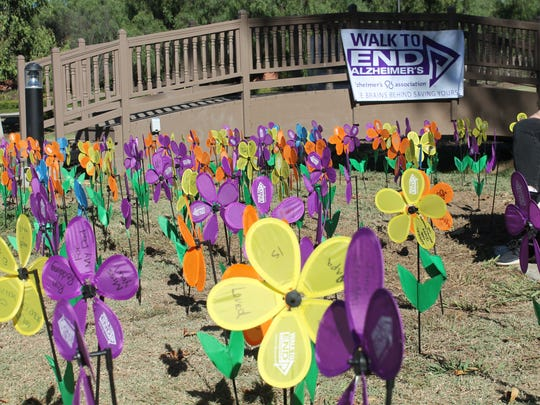 Every participant in Saturday's Walk to End Alzheimer's in Oxnard will receive a flower to add to a Promise Garden. The event starts at 8 a.m. at The Collection.