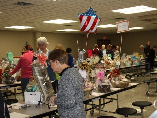 A silent auction helped raise money for the Hendersonville