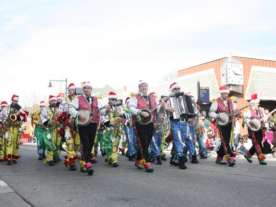 Mummers are a big attraction at the annual Collingswood Holiday Parade.