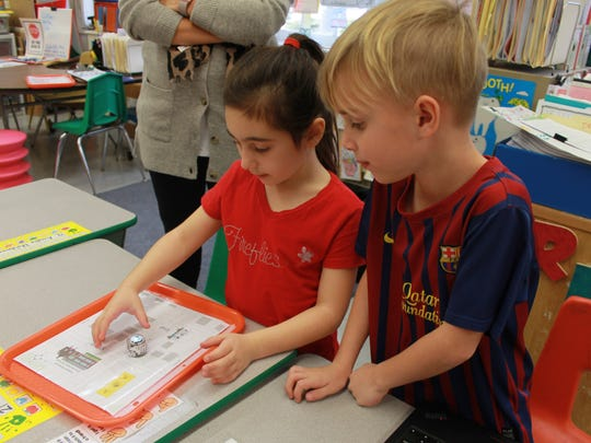 """Participating in the worldwide """"Hour of Code,"""" students in pre-K through 2nd grade at Forest Avenue Elementary School in Glen Ridge are involved in computer coding workshops from Tuesday, Dec. 5, to Thursday, Dec. 7."""