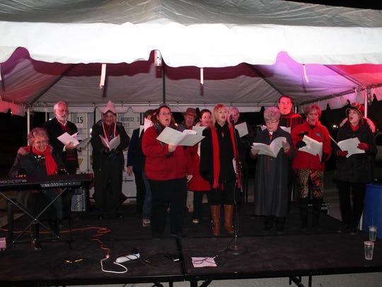 Members of Abilene's Celebration Singers entertain