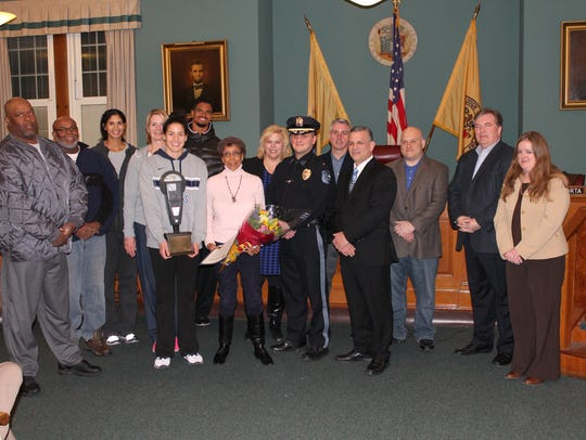 The mayor and council honor Barbara Wootton for 50