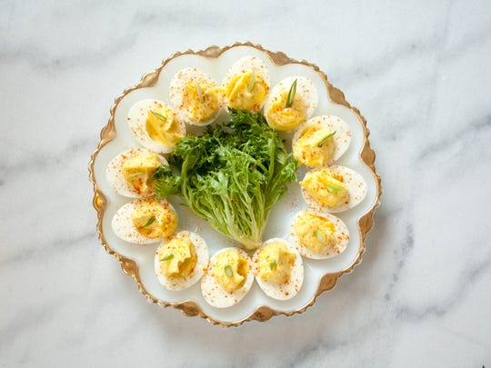 At Modine, deviled eggs are made with smoked trout