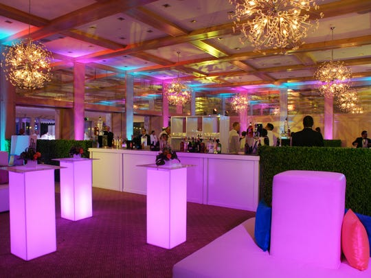The beautiful, upscale After Party at the Parker hotel before the 1,000 guests arrived.