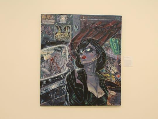 La Sad Girl an oil canvas painting by Adan Hernandez of San Antonio is part of Marin's Los Tejanos collection.