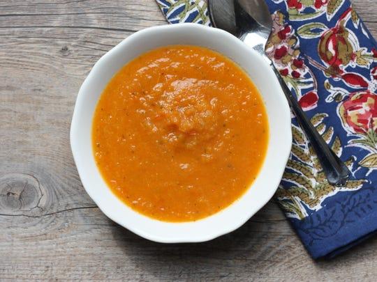 Sheet pan veg soup