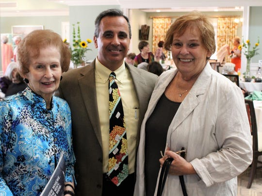 Elisabeth Lahti, left, Rob Ranieri and Gail Pedersen at the 19th annual Hearts for Hope Luncheon on Jan. 25.