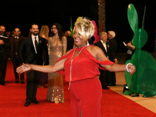 Iconic disco queen, Thelma Houston, on the red carpet