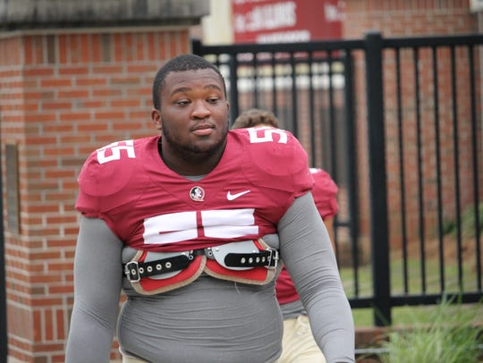 FSU defensive tackle Fred Jones.
