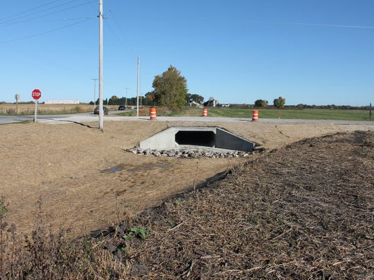Pictured is the completed box culvert on Fond du Lac County B.