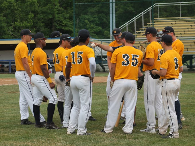 The Midland Redskins gather before a game June 12 in