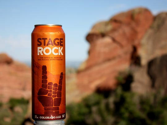 New Belgium has created a beer for Red Rock Amphitheatre called Stage Rock Colorado Ale.