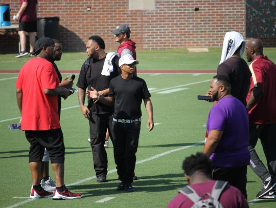 Rapper Plies at FSU's Saturday Night Live recruiting