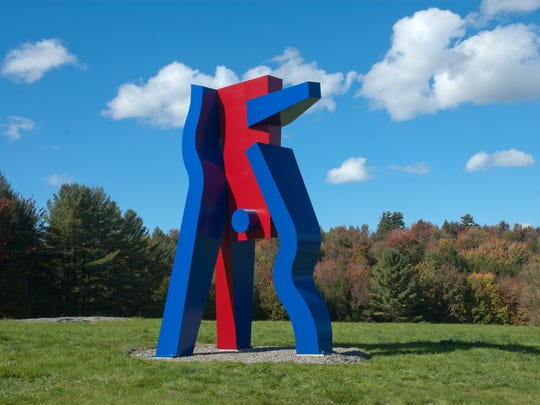 """Jamoke"" by David Stromeyer at Cold Hollow Sculpture Park in Enosburg Falls"