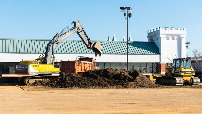 Construction at the future site of MedExpress Urgent Care at the Maintree Shopping Center on Main Road in Vineland.