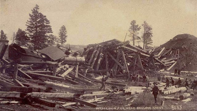 The Boulder train wreck of 1890.