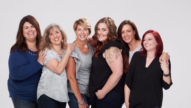Six of the eight board members of Sheroes Among Us, pictured from left: Jennifer Benson, Denise Sauter, Elizabeth Messner, Amber Remington, Laura Cynkar and Amy Ryan.