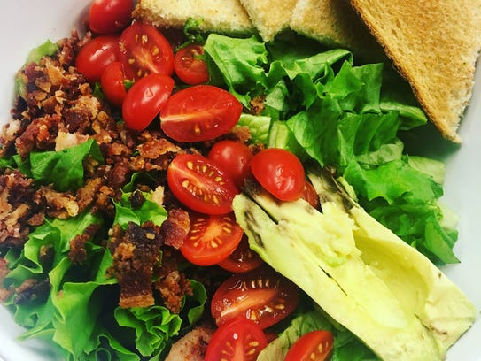 The Blue Note Whiskey Bar BLT salad is big enough to