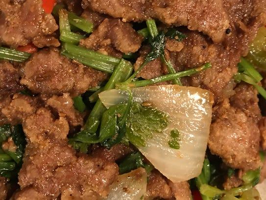 Cumin beef ($13.95) from Sze Chuan Restaurant.